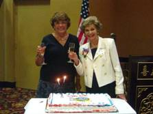 Past President Mary Lou Blount with KCRWC Founder Mary Middleton