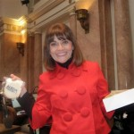 Rep. Alecia Webb-Edgington with her cookie gift for all KFRW members at Legislative Day