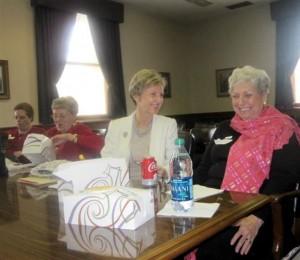 Sen. Katie Stine & Eileen Wendt-Moser at lunch