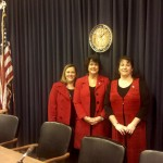 KCRWC Pres. Kim Kraft, Sen. Alice Forgy Kerr and Lynn Berk