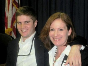 Kim and Christian Moser (he is an intern for Rep. Santoro)