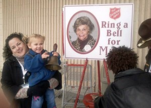 "Haley - one of the youngest and cutest ""Bellringers for Mary""!"