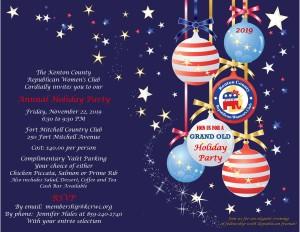 2019 KCRWC Holiday Party Invitation